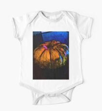 Orange Pumpkin with some Blue One Piece - Short Sleeve