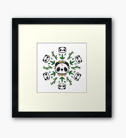 Pandala - Mandala Panda Framed Print
