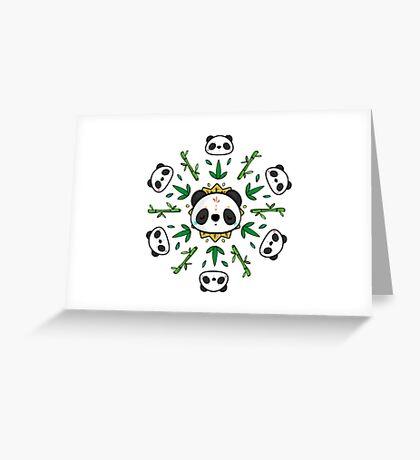 Pandala - Mandala Panda Greeting Card