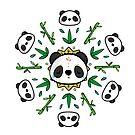 Pandala - Mandala Panda by lunaticpark