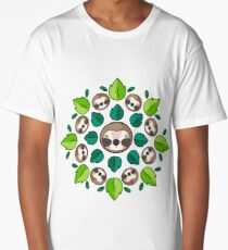 Mandala Sloth Long T-Shirt