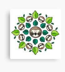 Mandala Sloth Canvas Print