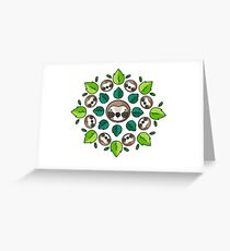 Mandala Sloth Greeting Card