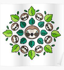 Mandala Sloth Poster