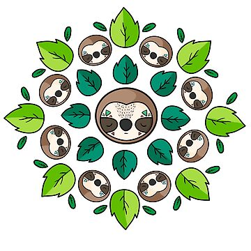 Mandala Sloth by lunaticpark