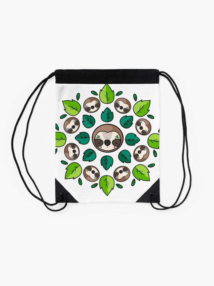 Alternate view of Mandala Sloth Drawstring Bag