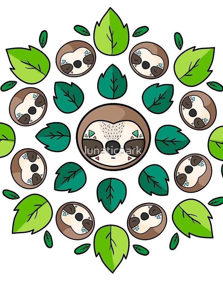 Mandala Sloth by lunaticpark