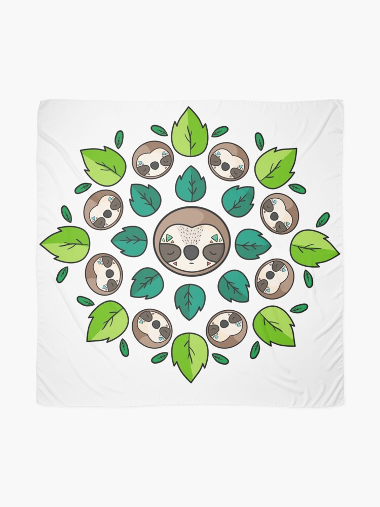Alternate view of Mandala Sloth Scarf