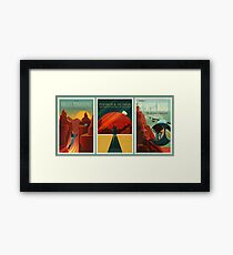 SpaceX Mars Colonization and Tourism Association Triptych Framed Print