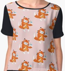 the fox and the bird Chiffon Top