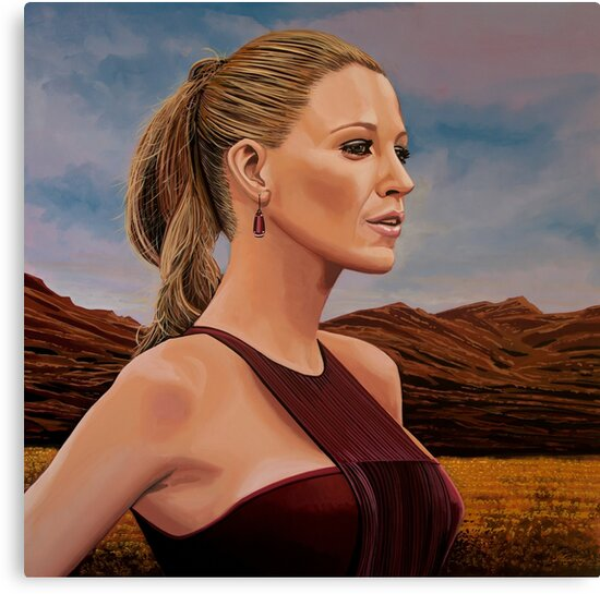 Blake Lively Painting by PaulMeijering