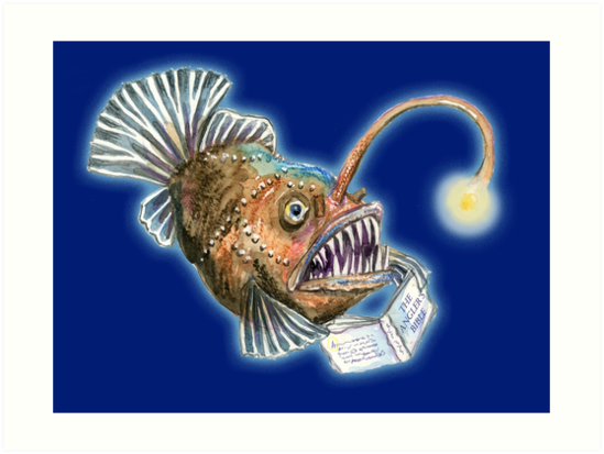 Angler Fish Reading the Anglers Bible by SmileDial