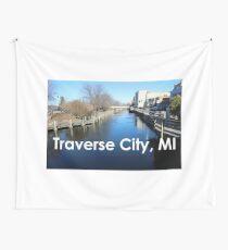Traverse City, Michigan Boardman River Downtown Traverse City Wall Tapestry