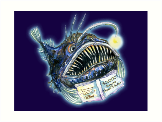 Angler Fish reads 50,000 Leagues Down Under by SmileDial