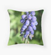 Grape Hyacinth Throw Pillow