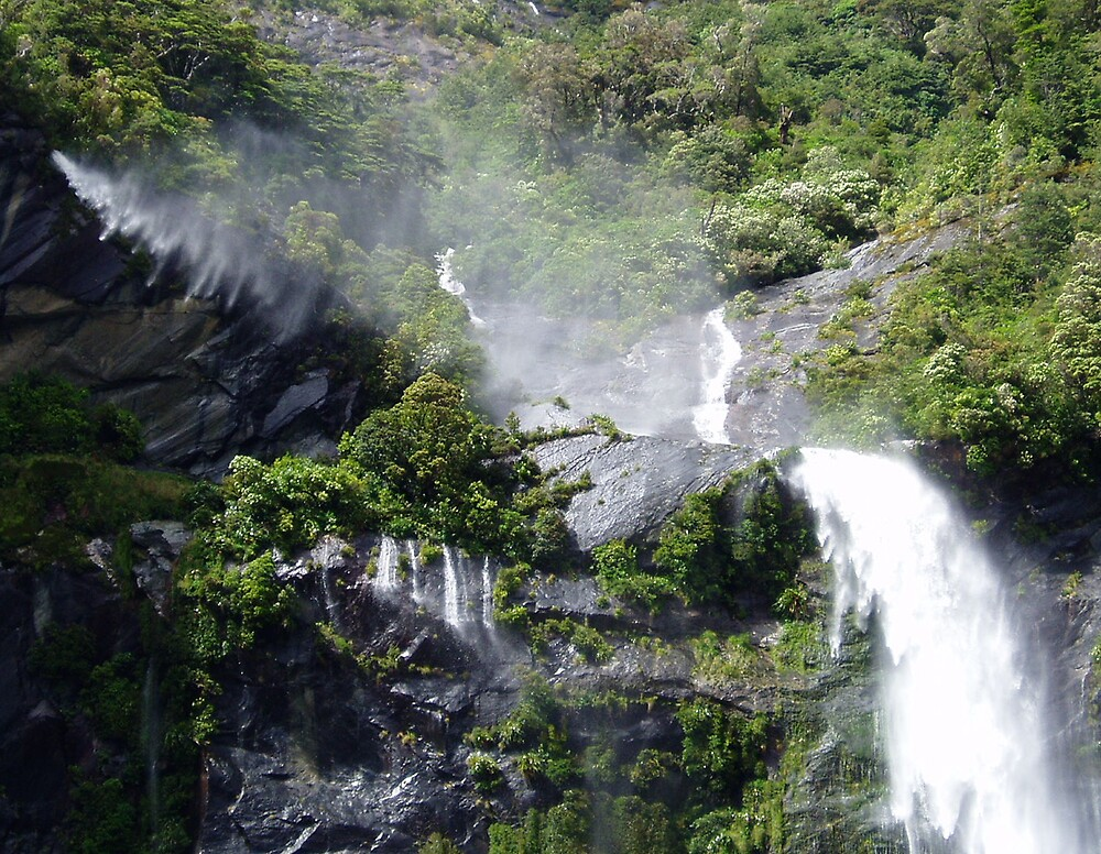Windy Water Falls by Erial