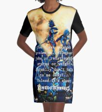 Kingdom Hearts shirt  funny quote Graphic T-Shirt Dress