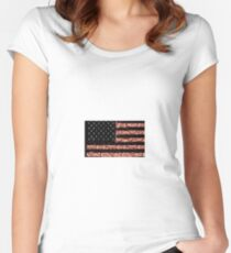 Flag Women's Fitted Scoop T-Shirt