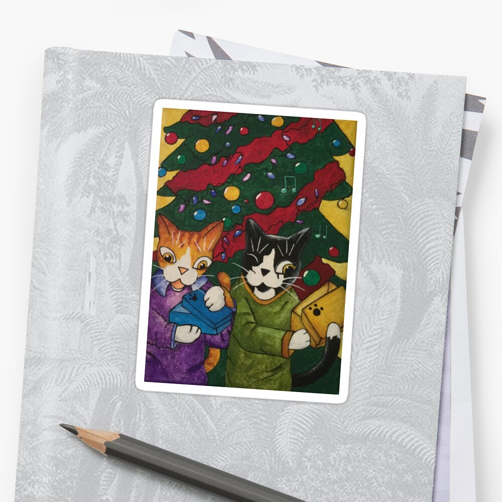 Christmas Gift Cats by Acrylic-Cats