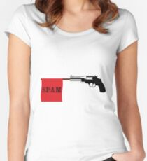 spam Women's Fitted Scoop T-Shirt