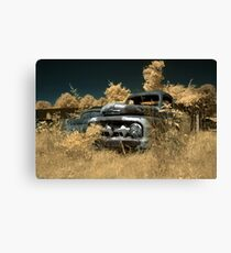 Abandoned 1952 Ford F-1 Pickup - infrared - 1 Canvas Print