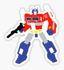 Optimus Prime Blocky <New and Improved> Sticker