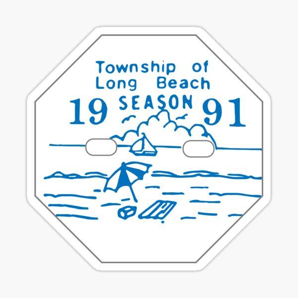 LBI Beach Badge 1991 Sticker