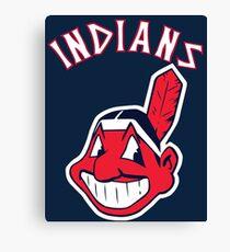 Cleveland Indians Chief Wahoo Baseball Club Canvas Print