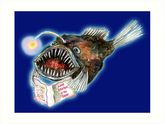 Angler Fish reads Love Stories in the Deep by SmileDial