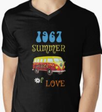 1967 Summer of Love Peace Van Hippie Graphic T-Shirt