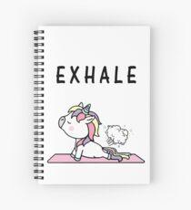 Exhale Unicorn Yoga Fart Spiral Notebook