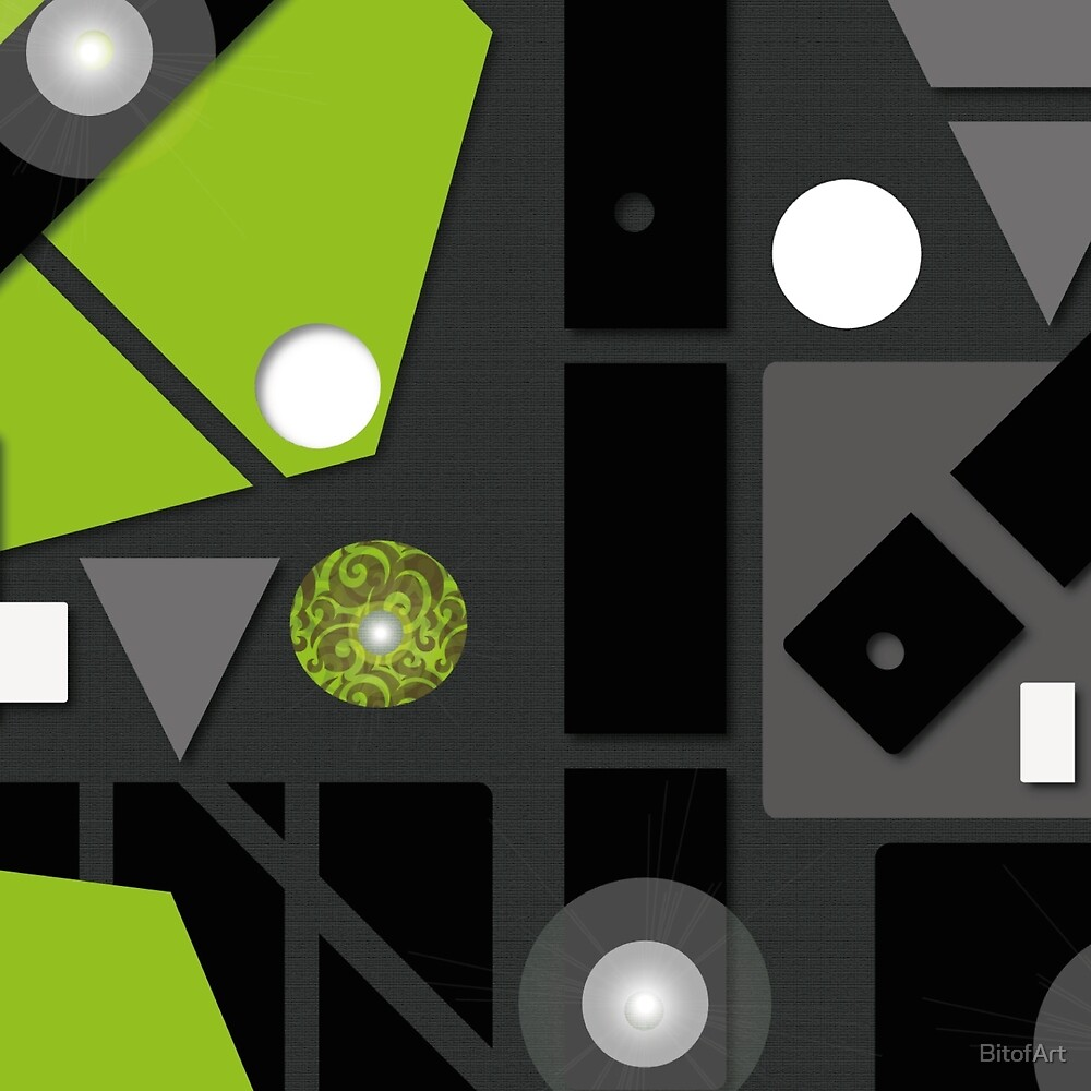 Green Abstract by BitofArt