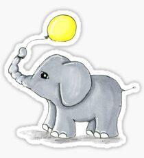 Yellow Balloon Elephant Sticker
