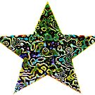 PSYCHEDELIC STAR by WhiteDove Studio kj gordon