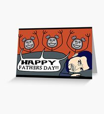 Father's Day Clocks Greeting Card