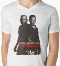 prison break Men's V-Neck T-Shirt