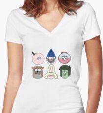 Regular show t_shirt cartoon Women's Fitted V-Neck T-Shirt