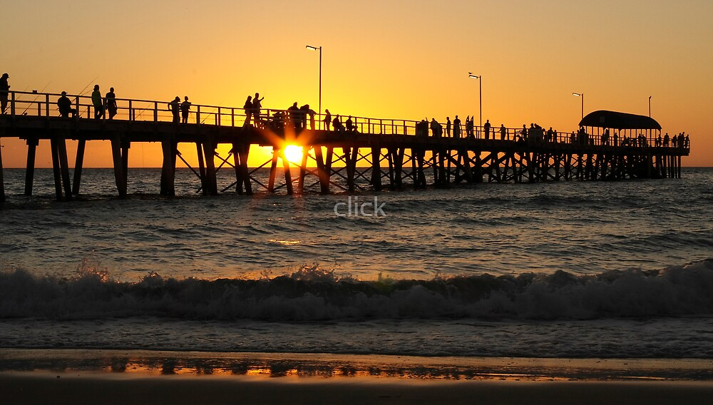 Beach sunset by click