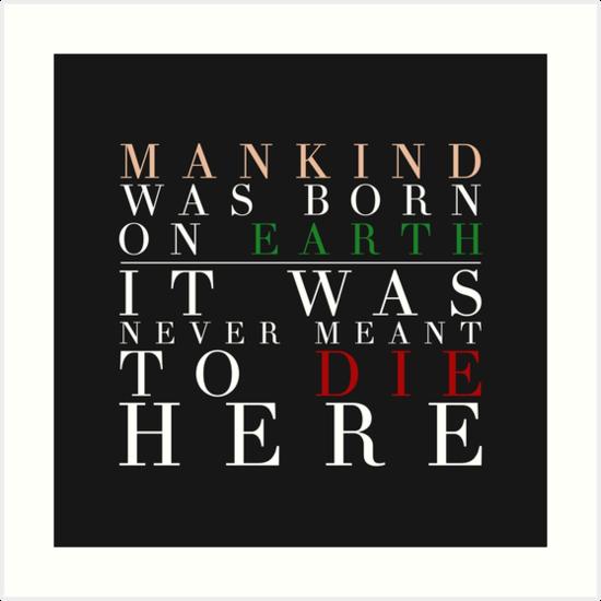Interstellar - Mankind Was Born... by WaffleFrisbee
