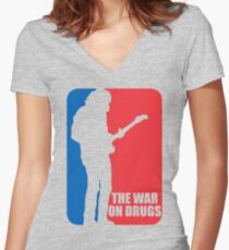 the war on drugs Women's Fitted V-Neck T-Shirt