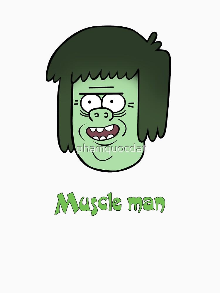 Regular show t_shirt cartoon, Muscle man by phamquocdat
