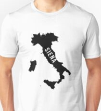 Siena, Italy Silhouette Unisex T-Shirt