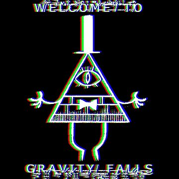 Bill Cipher - Welcome to Gravity Falls - Anaglyph by LostHerMarbles