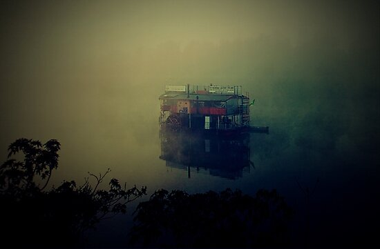 Hawkesbury Paddlewheeler In The Mist by Paul Evans