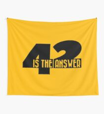 42 is the answer Wall Tapestry