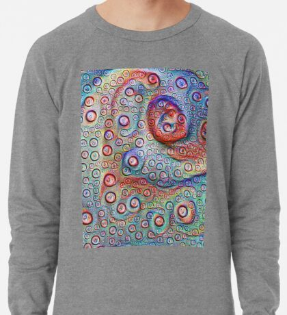 #DeepDream Water droplets on glass Lightweight Sweatshirt