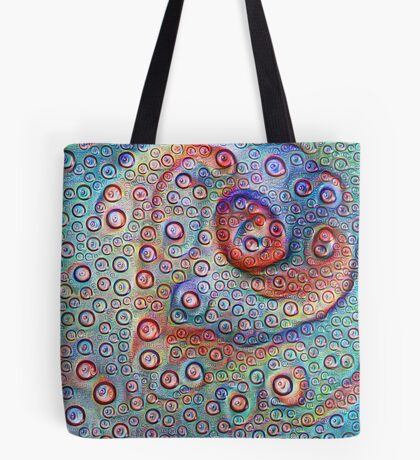 #DeepDream Water droplets on glass Tote Bag