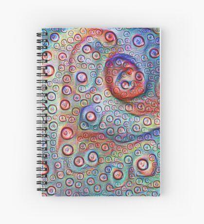 #DeepDream Water droplets on glass Spiral Notebook