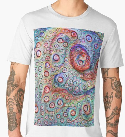 #DeepDream Water droplets on glass Men's Premium T-Shirt