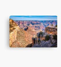 Morning at Bright Angel Trail - Grand Canyon Canvas Print